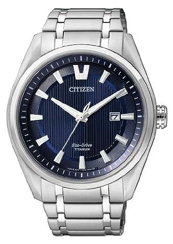 Citizen Herren-Armbanduhr XL Super Titanium Analog Quarz Titan AW1240-57L