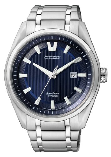 Citizen Herren-Armbanduhr XL Super Titanium Analog Quarz Titan AW1240-57L