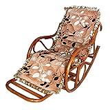 WDBS Rattan Sitzkissen Schaukelstuhl Stuhl Sessel Lounge-Sessel für die älteren NAP-pad , 1