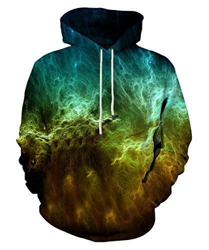 Lv Band (EOWJEED 3D Digital Print Athletic Sweaters Hoodie Kapuzenpulli XL)