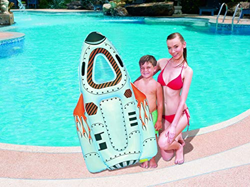 Bestway Surf'N Space Rider Luftmatratze Schwimmbrett Surfbrett aufblasbar weiss