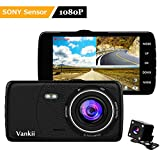 Vankii Full HD 1080P Dashcam Autokamera Video Recorder mit 170° Weitwinkelobjektiv,4