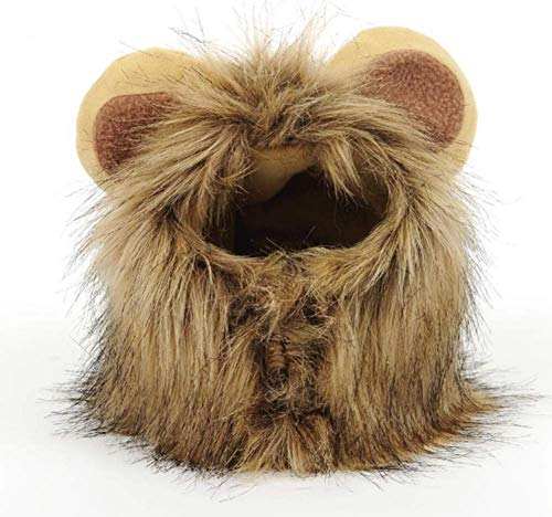 PET Lion Mane Für Katzen Kostüm Verstellbare Waschbare Lion Wig Kleidung Kleid Für Halloween Weihnachten Ostern Festival Party-Aktivität,M