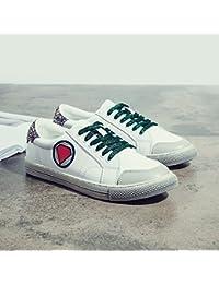 Sobre la base de los pequeños zapatos blancos zapatos de tela alumnas con zapatos de cuero suave ,calle 40, blanco