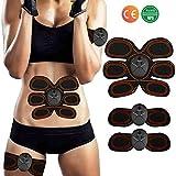 ZHENROG Electroestimulador Muscular Abdominales Masajeador Eléctrico Cinturón, 10 Niveles & 6 Modos, Estimulador Muscular Ejercitar Abdomen/Brazo/Piernas/Cintura (Hombre/Mujer)