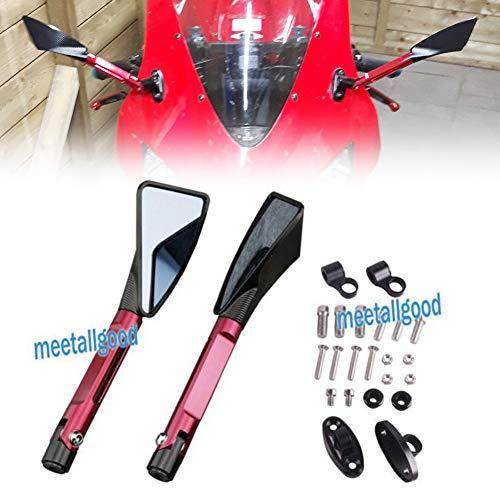 GZYF Moto CNC vue arrière miroirs pour Ninja Zx6r 05-08 Zx10r 04-07 Cbr1000r 04-07 Cbr954rr 02-03 Cbr929rr 00-01 Cbr600rr 03-10