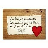 Glückwunsch-Karte zur Hochzeit mit Umschlag / Rustikale Liebe Vintage / Hochzeitskarte / Glückwunsch Karte
