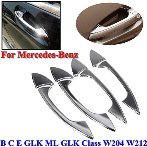 4 PCS/Set Couvercle de poignée de porte chromé pour Mercedes- Pour Benz E GLK ML Classe C W204 W212 Accessoires pour voiture