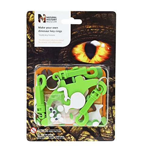 Natural History Museum Make Your Own Dinosaur Key Rings Kit