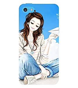 Vizagbeats girl flying rocket Back Case Cover for Apple iPhone 6 Plus