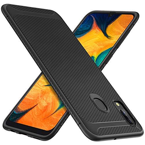 iBetter Per Samsung Galaxy A30 Cover, Thin Fit Gomma Morbida Protettiva Cover, Protezione Durevole,per la Samsung Galaxy A30 Smartphone.(Nero)