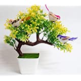 DecoratingLives Mini Artificial Plant in Pots, Green Faux Potted Plants for Home Decor (Height :25 cm)