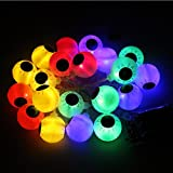 PIXNOR 2M 4, 5V 3W 20-LED luces de Navidad Halloween LED luces de cadena - globo ocular con pilas ( Vistoso )