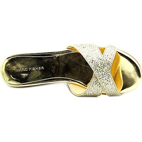 Marc Fisher Cilla 2 Damen Synthetik Keilabsätze Sandale Gold/Multi