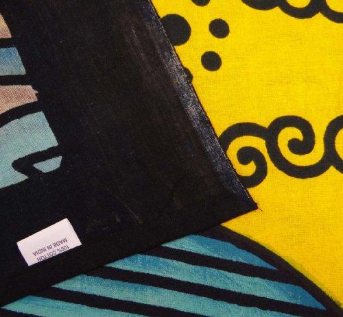 Étnico Sun Tapestry Hippy Table Cloth pared amarilla colgantes decorativos Hoja Indian Art Bed 85 X 55 pulgadas