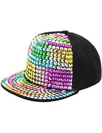 155860886f9 90S Unisex Children Adjustable Rivet Snapback Hats Canvas Baseball Caps  Fashional Hip Hop Cap