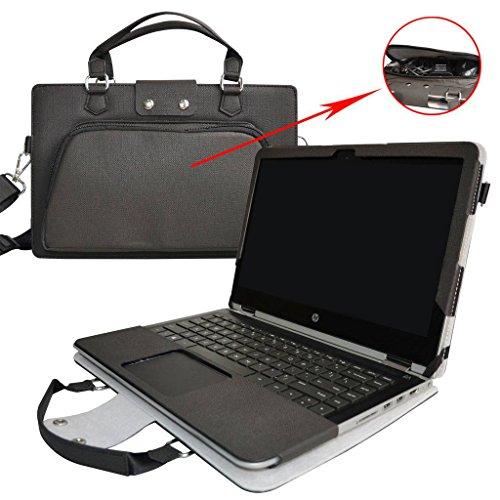 ASUS VivoBook S14 Hülle,2 in 1 Spezielles Design eine PU Leder Schutzhülle + Portable Laptoptasche für 14