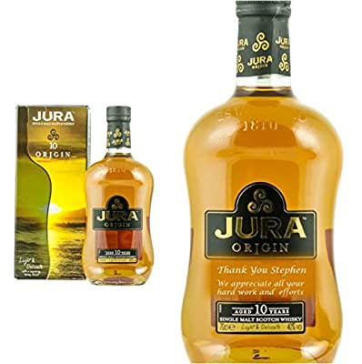 Personalised Isle of Jura 10 Year Old Origin Single Malt Whisky 70cl Engraved Gift Bottle
