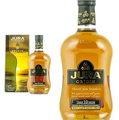 Personalised Isle of Jura 10 Year Old Origin Single Malt Whisky 70cl Engraved Gift Bottle