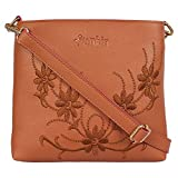 Funkia™ sling bags for womens | sling bag tan for girls stylish trendy