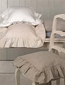 stuhlkissen kissenbezug kissenh lle kissen landhaus shabby chic r sche volant 40x40. Black Bedroom Furniture Sets. Home Design Ideas