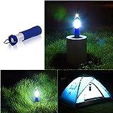 Winbang Zelt Camping Laterne Licht Mini einziehbare LED Zelt Camping Licht Wandern Taschenlampe Outdoor Lampe 3W Blau