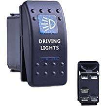 12V 20A Bar Carling Bar Rocker Interruptor Azul LED Reverse con luz para Offroad SUV coche camión remolque tractor Jeep Barco ATV UTV RV vehículo