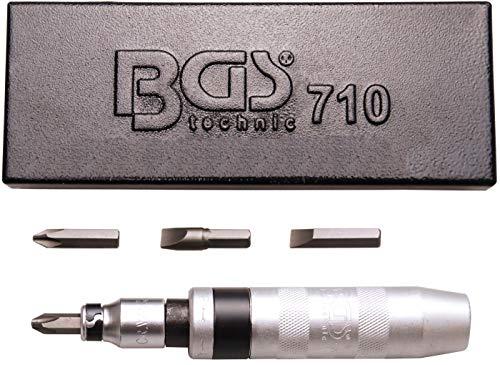 BGS 710 | Hand-Schlagschrauber-Satz mit Bits | 5-tlg. | sehr robust | inkl. Metallkassette
