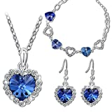 "Pauline & Morgen ""Blue Love"" Jewellery Set for Women Bracelet Necklace Earrings made with Swarovski crystals - it is timeless and special, just like your love for her!"