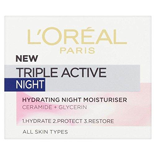 L'Oréal Paris Dreibettzimmer Aktive Nachtcreme (50 ml) - Packung mit 2