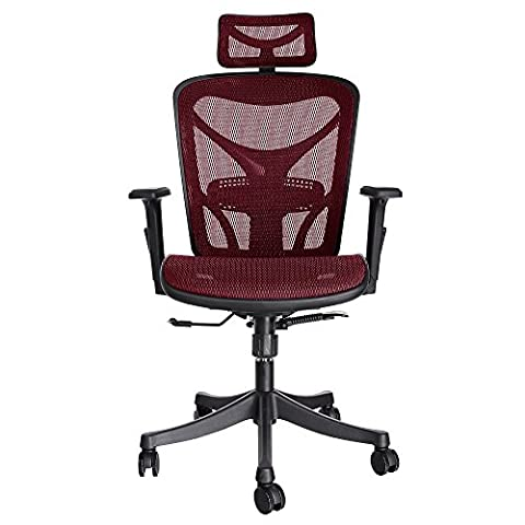 Ancheer Moderner Mesh verstellbarer ergonomischer exekutivbüro Computerstuhl Bürostuhl Hoch Rücken mit Armlehnen in 2 Farbe