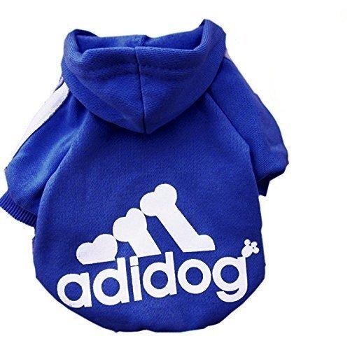 (KayMayn Hundemantel Adidog Sport Dog Pet Puppy Hund Katze Shirt Coat Kleidung Hoodie Pullover Kostüme Big & Kleine Größe (S bis 9x l), 7Farben)