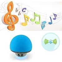 Rubility® Portable Wireless Mushroom Modello Mini Assorbimento Mobile Bass Bluetooth Speaker con MIC --- Blu