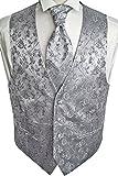 Beytnur Hochzeitsweste mit Plastron, Einstecktuch u. Krawatte Nr. 16.3 Größe 50