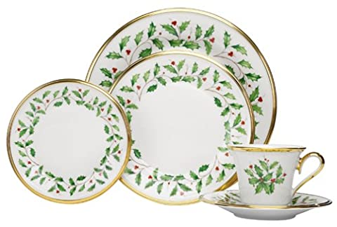 Lenox Holiday 5-Piece Gold-Banded Fine China Place Setting, Service for 1