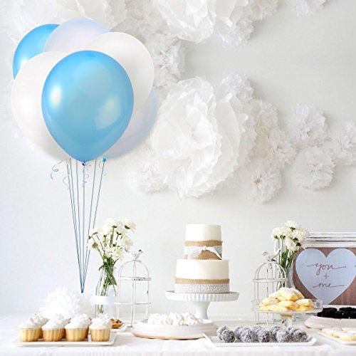 comprare on line NUOLUX 30pcs 12 pollici palloncini blu palloncini per festa di nozze, 3 colori prezzo