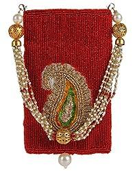 Ahankara Womens Mobile Pouch (Red) (AMMP0000002)