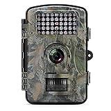 Caméra de Chasse Aoleca 12MP 1080P HD Caméra de Faune avec 120° Grand Angle Infrarouge de Vision Nocturne Distance de Déclenchement 65ft (20m), 42pcs LEDs IR Caméra de Surveillance avec 2.4'' écran TFT et IP54 Imperméable (Soutien 32GB SD CARTE) - Camouflage