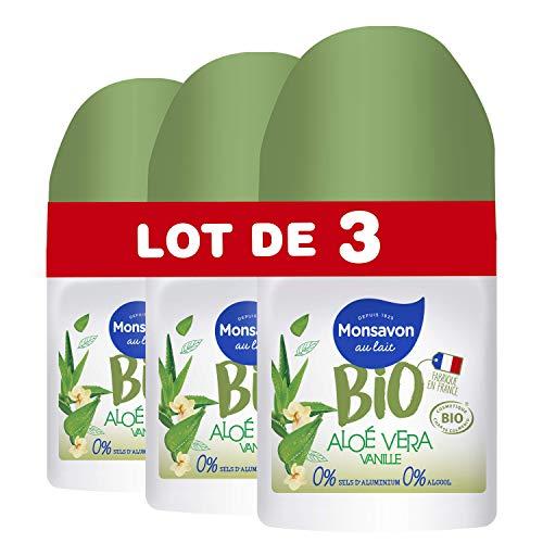 Monsavon Desodorante Bio redonda Aloe Vera vainilla