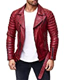 Reichstadt Herren Jacke RS001 Bordeaux - RS001 PU - Black Zipper XXXL
