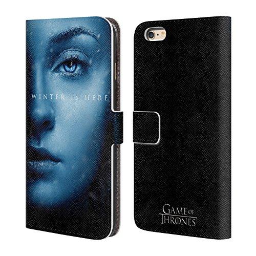 Offizielle HBO Game Of Thrones Daenerys Targaryen Winter Is Here Brieftasche Handyhülle aus Leder für Apple iPhone 7 Plus Sansa Stark