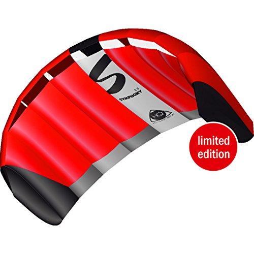 HQ 11769160 - Symphony Pro 1.3 Neon Red Zweileiner Lenkmatten, ab 8 Jahren, 55x130cm, inkl. 45 kp Blendlineschnüre 2x20m auf Winder mit Schlaufen, 2-6 Beaufort