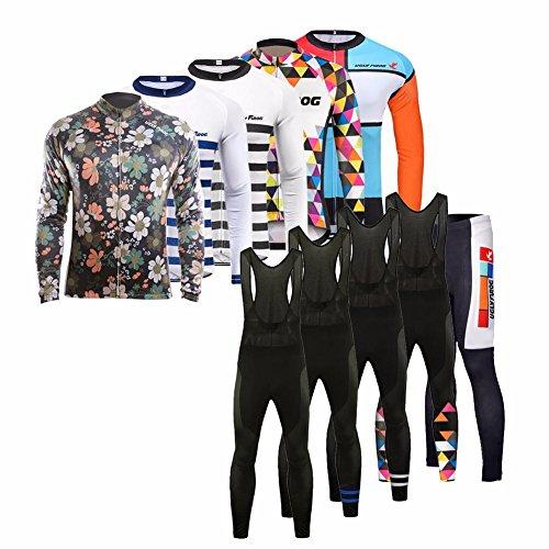 UGLYFROG #07 Fahrradbekleidung Herren Frühling Style Full Zipper Lange Ärmel Radfahren Jersey + Bib Lange Hosen Anzüge Mountainbike-Clothes