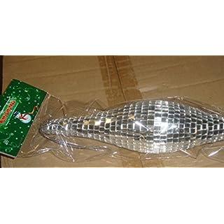 Abama Ornament, tropfenförmig, Styrofoam, mit Spiegelplättchen