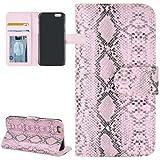 Handytasche Etui Flip Business Case Cover Apple iPhone 6 Schlange Schlangenhaut Optik pink