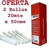 Aironfix Forra Libros Apli 0264 Transparente y Reposicionable permite volver a colocarle dos veces 20mts x 50cms Pack Oferta 2 Rollos
