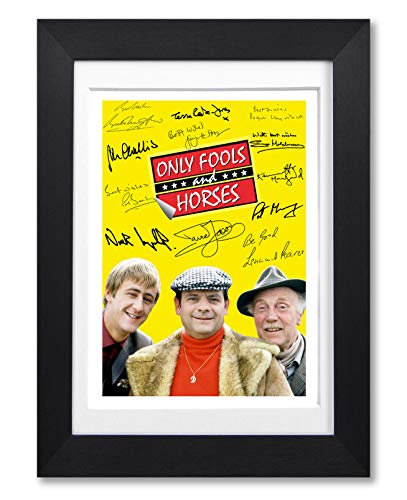 Only Fools and Horses Cast Signed Autograph A4 Poster Photo Print