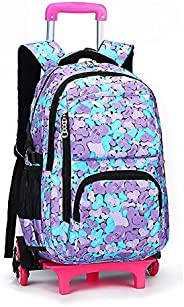 Meetbelify Girls Rolling Backpack Kids Backpack with wheels for girls for Middle school Trolley Luggage Out Do