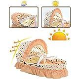 Babykörbchen Natürliche Maiskleie Korb Weben Körbe Bett Neugeborenen Im Bett Korb 82 * 50 * 50cm,1