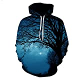 Pokem&Hent 3D Nightfall Tree Sweatshirts Langarm Mit Kapuze Freizeit Sportwear Trainingsanzug Nightfall 6XL